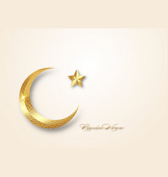 ramadan kareem 2021 gold greeting card vector image