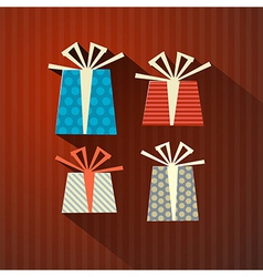 Retro Paper Gift Present Boxes vector image