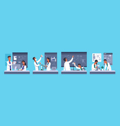 scientists chemical medical researchers people vector image
