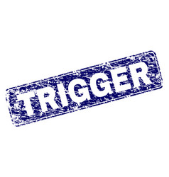 Scratched trigger framed rounded rectangle stamp vector