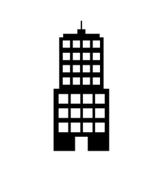 Silhouette building line sticker image vector