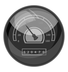 Speedometer with arrow for car icon vector