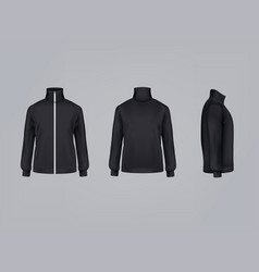 sport jacket or long sleeve sweatshirt vector image