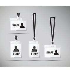staff pass lanyards vector image
