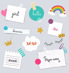 Stickers and note papers collection Different vector image