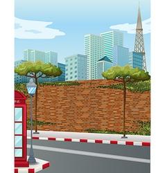 Street corner in city vector