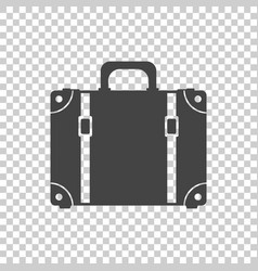 Suitcase flat on isolated background case vector