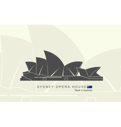 Sydney Opera house in Australia vector