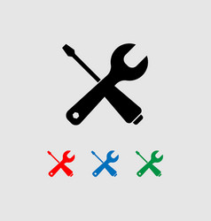 tools icon a wrench and a screwdriver vector image