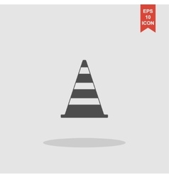 Traffic cone flat icon vector image