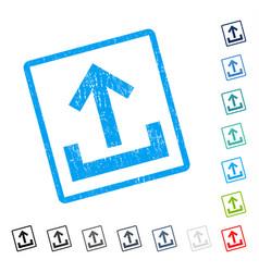 Upload icon rubber watermark vector