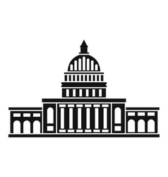 White house icon simple style vector image