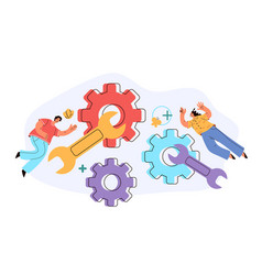 workers people team characters working vector image
