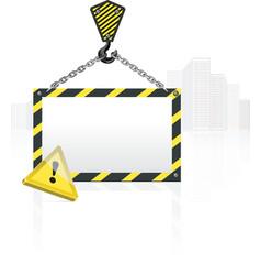 crane hook blank poster vector image vector image