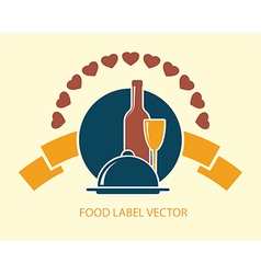 food label abstract vector image