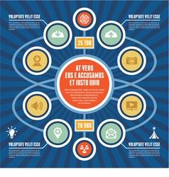 Infographic Concept - Business Scheme - Modern Tem vector image vector image