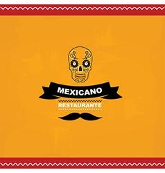 Menu mexican template design vector image