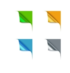 Paper different color corners and blank space for vector image vector image