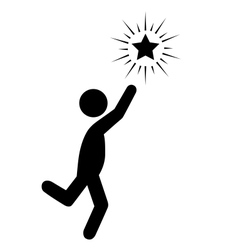 Reach the Star People Flat Icons Pictogram vector image