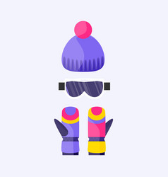 Skiing snowboarding mask goggles eyewear and vector