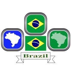 symbol of Brazil vector image vector image