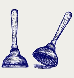 Toilet plunger vector image vector image