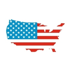 USA map flag icon vector image vector image