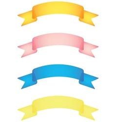 banner scrolls vector image vector image
