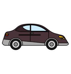 car sedan vehicle transport vector image