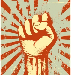 clenched fist vector image vector image