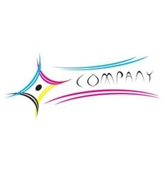 CMYK logo vector image vector image