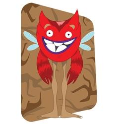 red alien monster vector image vector image