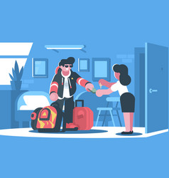 rent apartment or room vector image