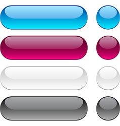 Rounded buttons on white background vector image