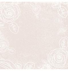 Vintage Rose Ivory Background vector image