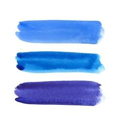 Watercolor brush stroke set vector image vector image