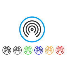 airdrop center rounded icon vector image