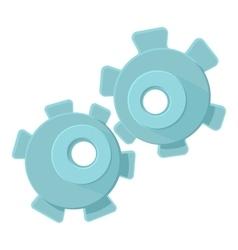 Cogwheel icon cartoon style vector