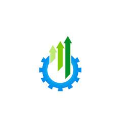 Gear arrow up logo vector