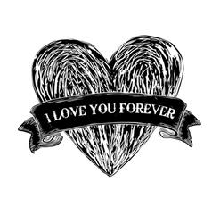 Heart tattoo eps8 vector