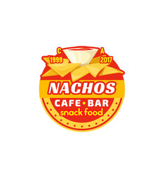 nachos chips fast food cafe bar icon vector image