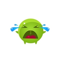 Tearful Round Character Emoji vector image vector image