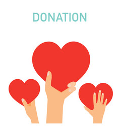 Concept for charity medical donations internet vector