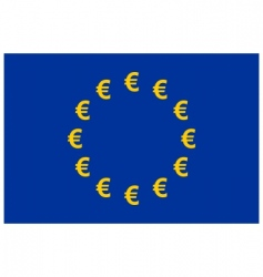 Euro currency flag vector image