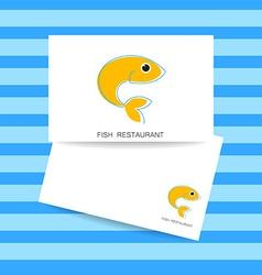 fish restaurant card vector image vector image