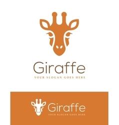 Giraffe Head Logo vector image vector image