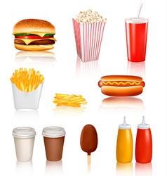 mega set of fastfood vector image vector image