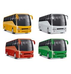 new modern comfortable city buses vector image