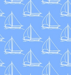 seamless wallpaper with a sailboat vector image