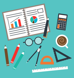 set of office and business vector image